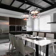 现代风格开放式厨房餐厅装修效果图赏析