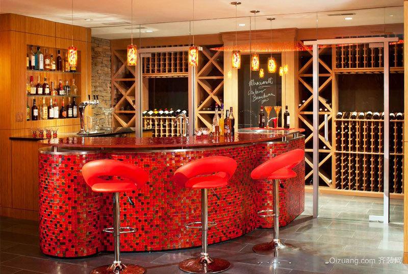 现代风格时尚酒柜吧台设计装修效果图