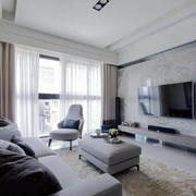 现代简约风格精致大气客厅设计装修效果图