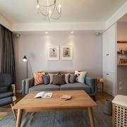 宜家风格温馨小户型客厅设计装修实景图