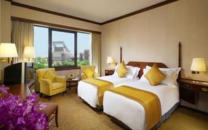 新中式风格酒店客房设计装修效果图