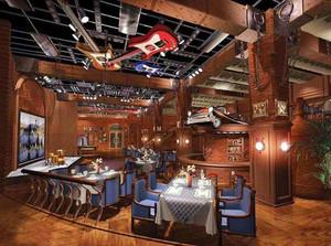 美式风格精致酒吧设计装修效果图