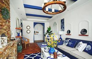 地中海风格客厅设计装修实景图赏析