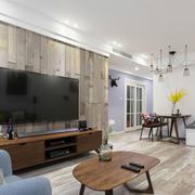 后现代风格时尚客厅电视背景墙装修效果图