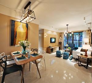 104平米混搭风格精致时尚三室两厅室内装修效果图