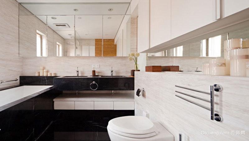 8平米简欧风格精装卫生间设计装修效果图