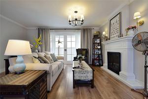 美式风格精致两室两厅两卫设计装修效果图