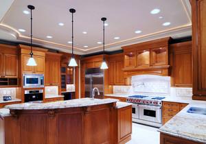 美式风格整体厨房设计装修效果图赏析