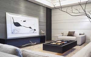 98平米日式风格简约三室两厅装修效果图