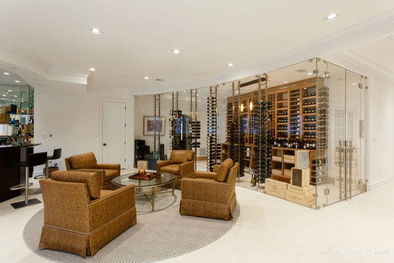 后现代风格别墅室内时尚酒柜设计装修效果图