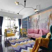 后现代风格时尚大气客厅设计装修实景图赏析