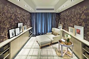 138平米新中式风格精装三室两厅装修效果图