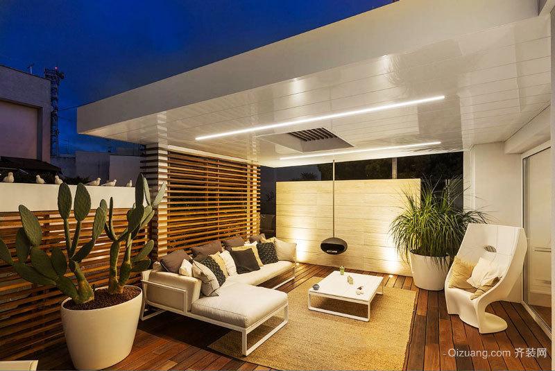 现代风格别墅休闲阳台设计装修效果图