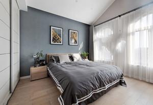 简约风格灰色温馨浅色卧室飘窗装修效果图