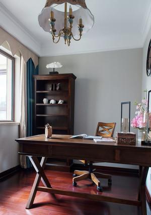 125平米中式风格古典三室两厅装修效果图