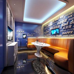 现代风格时尚KTV包房设计装修效果图