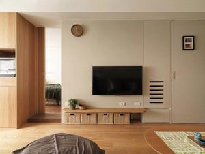 61平米简约风格单身公寓设计装修效果图