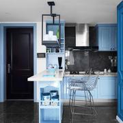 地中海风格经典蓝色书房设计装修效果图