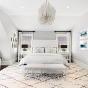 简欧风格纯白高雅卧室装修效果图赏析