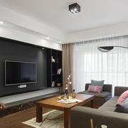 现代风格个性精致客厅电视背景墙装修效果图