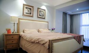 97平米美式风格清新时尚两室两厅室内装修效果图
