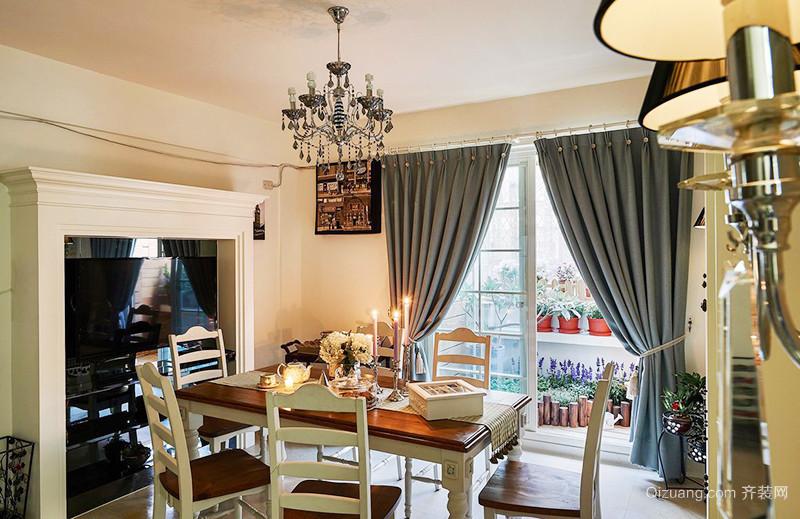 欧式田园风格轻松淡雅两室两厅室内装修效果图