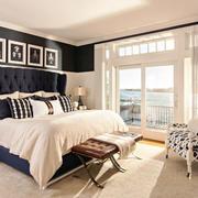 欧式风格别墅黑白时尚卧室装修效果图鉴赏