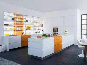 现代简约风格开放式厨房装修效果图大全