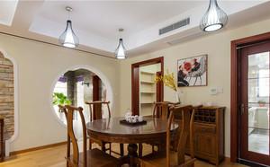 中式风格古典实木餐厅设计装修效果图