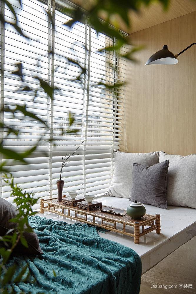 中式风格精致典雅飘窗设计装修效果图