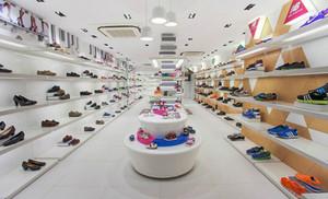 现代简约风格大型鞋店设计装修效果图