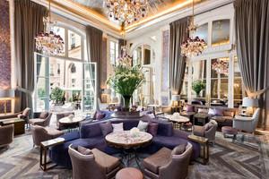 欧式风格奢华典雅西餐厅设计装修效果图