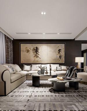 东南亚风格别墅室内客厅设计实景图