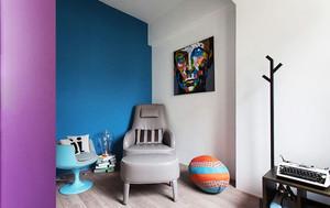 混搭风格时尚时尚紫色两室两厅室内装修效果图