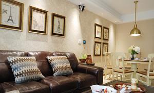 简欧风格精致时尚两室两厅室内设计装修效果图