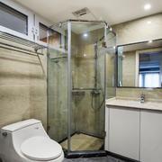 6平米现代简约风格卫生间淋浴房装修效果图
