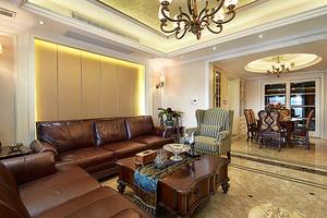美式风格精装三室两厅室内设计装修效果图案例