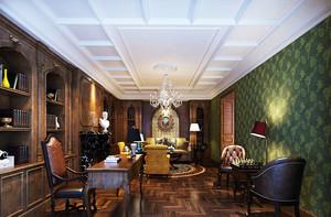 320平米美式风格别墅室内设计装修效果图