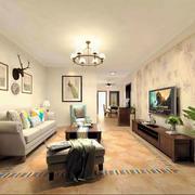 美式风格大户型简约客厅设计装修效果图鉴赏