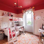 欧式风格中性暖色儿童房设计装修效果图