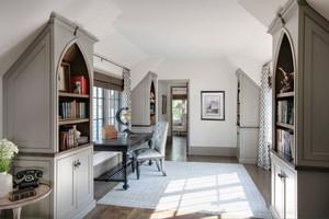 欧式风格精致别墅阁楼书房设计装修效果图