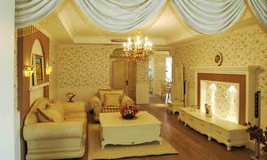 欧式田园风格温馨三室两厅两卫装修效果图赏析
