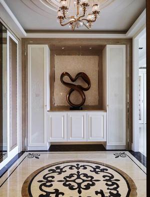 欧式风格大户型华丽玄关设计装修效果图