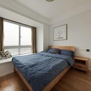 宜家风格简约卧室飘窗设计装修效果图