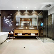 中式风格古典精致大户型卫生间装修效果图
