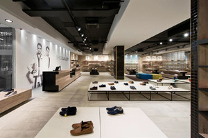 现代简约风格鞋店设计装修效果图