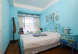 地中海风格浅蓝色创意儿童房装修效果图