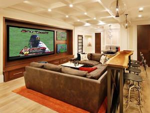 后现代风格创意简单客厅吧台装修效果图