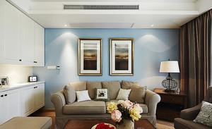 简约美式风格精致三室两厅两卫设计装修效果图