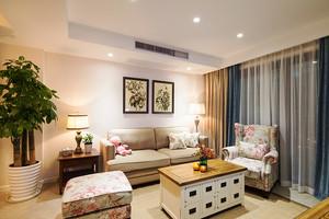 欧式田园风格甜美两室两厅室内装修效果图案例